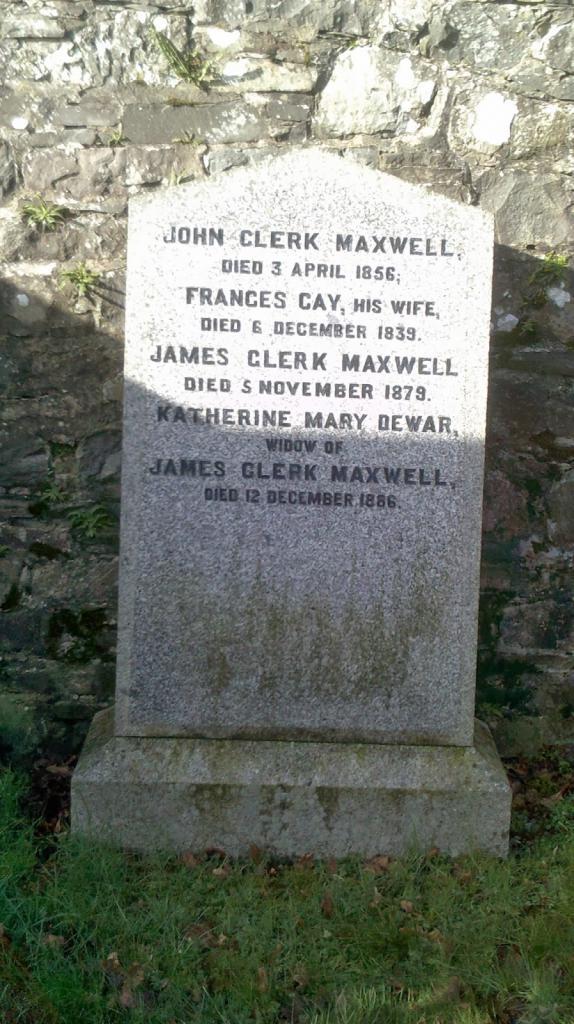 Памятник на могиле Максвелла